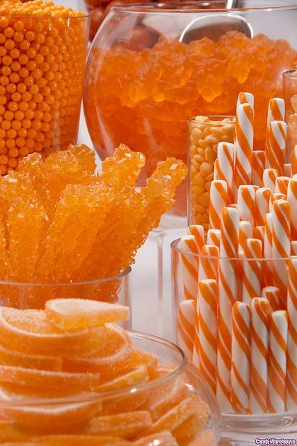 Bar bonbons orange